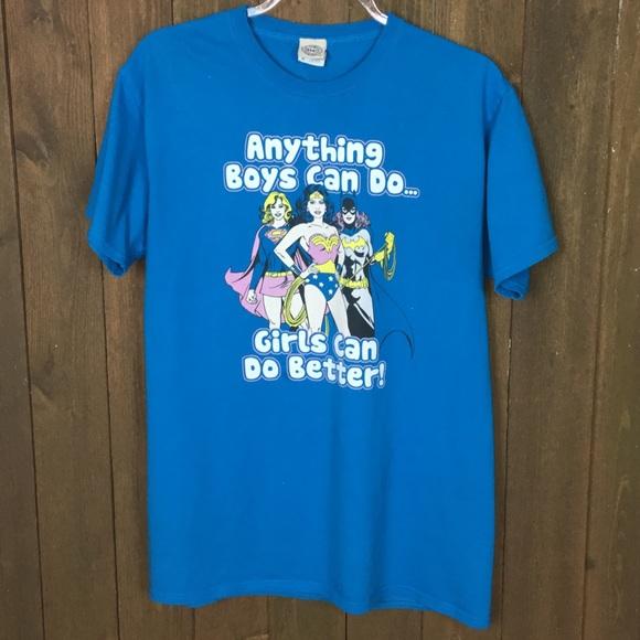 Anything Boys Can Do GIRLS CAN DO BETTER Supergirl BOYS /& GIRLS T-Shirt S-XL